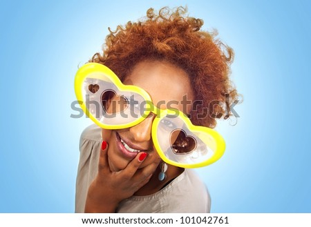 Funny lovely african women - stock photo