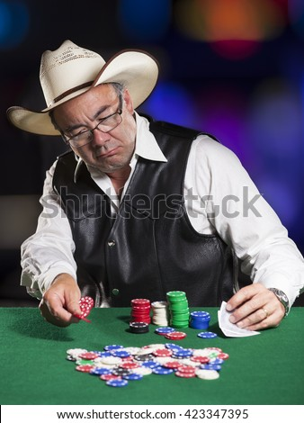asian poker player