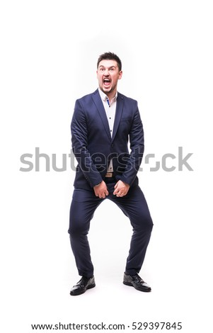 funny man in suit