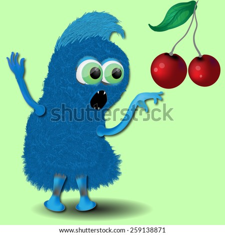funny monsters hungry - stock photo