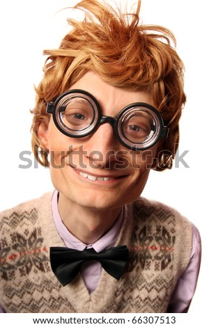 Funny nerd, similar available in my portfolio - stock photo