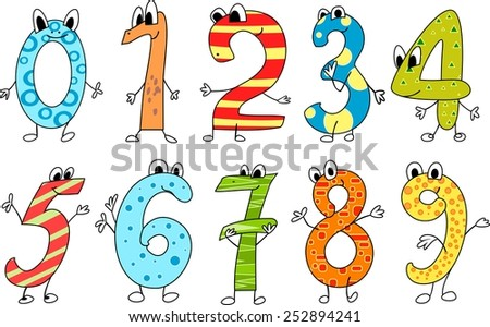 Funny numbers - stock photo