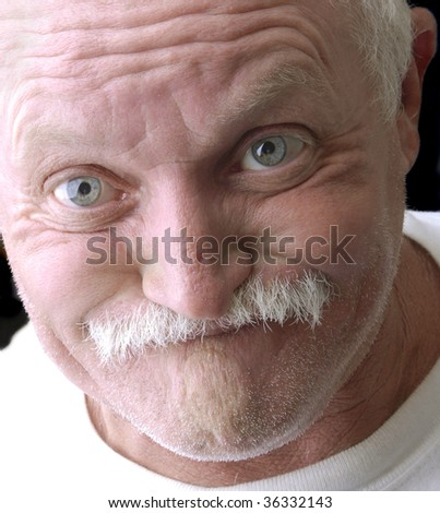 Funny old man - stock photo