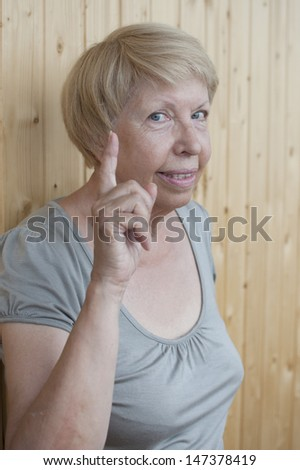 Funny old woman - stock photo