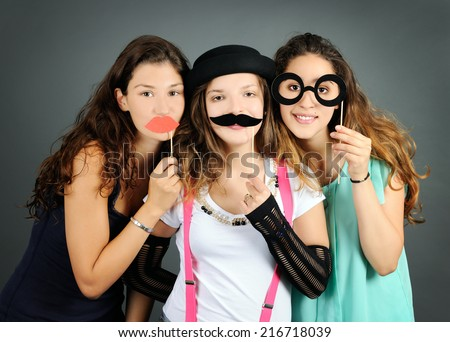 funny portrait - stock photo