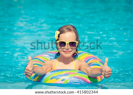 Funny Portrait Child Kid Having Fun Stock Photo 415802344 ...