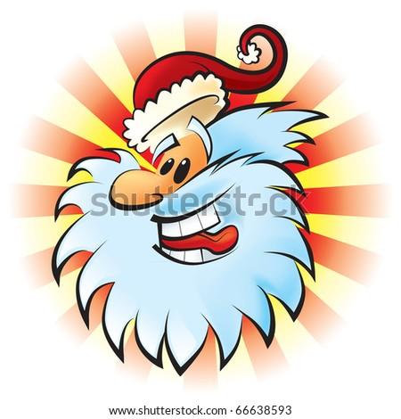 Funny Santa Claus. JPEG version. - stock photo