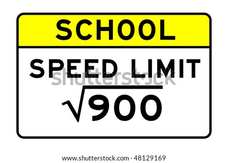 funny speed limit road sign - stock photo