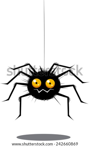 Funny spider  - stock photo