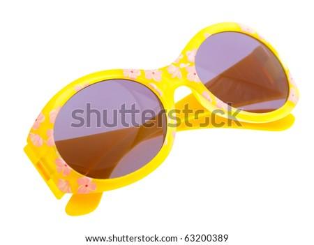 Funny sunglasses isolated on white background - stock photo