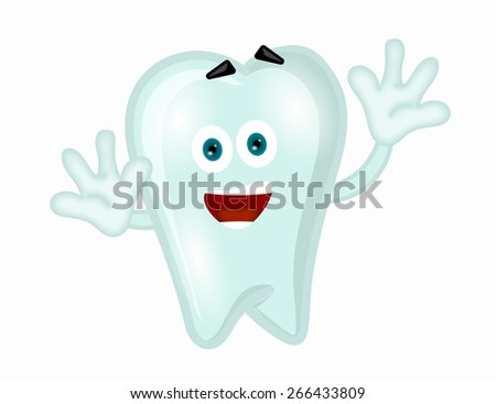 Funny tooth cartoon comic illustration children