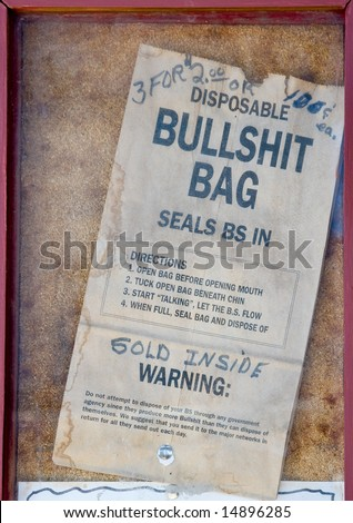 Funny vintage advertisement sign - stock photo