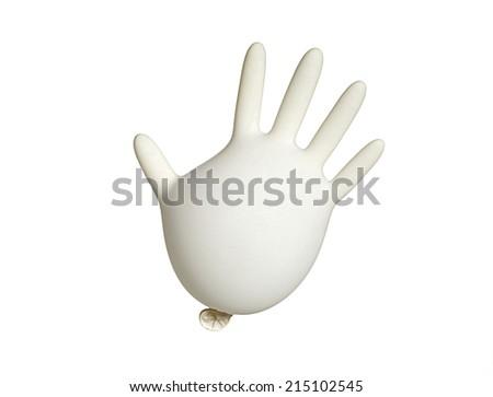 funny white glove - stock photo