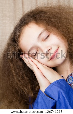 Funny young girl - stock photo
