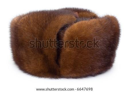 Fur cap - stock photo