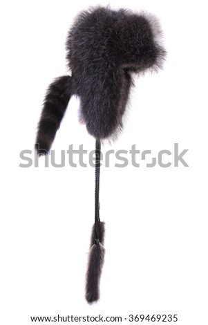 Fur cap for winter weather. - stock photo