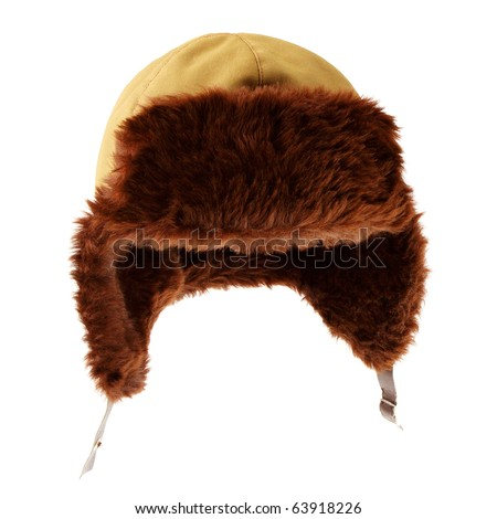 Russian Fur Hat Clip Art Fur cap for winter weather.