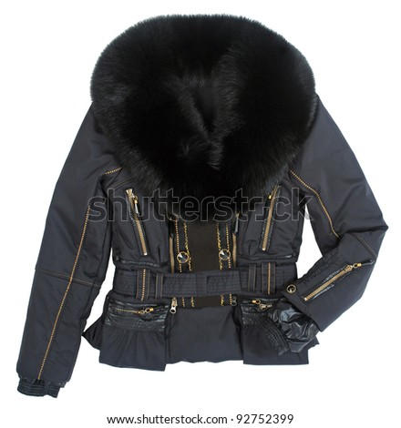 fur jacket - stock photo