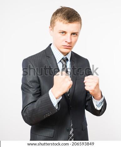furious businessman - stock photo