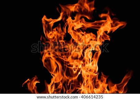 furious raging flames red fire black background
