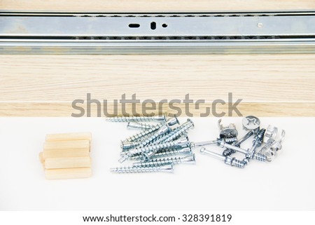 Furnishing accessories on the white background - stock photo