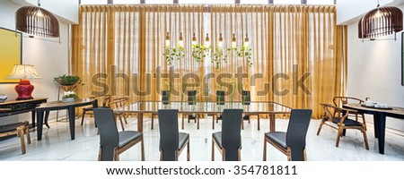 furniture and decoration of modern dining room