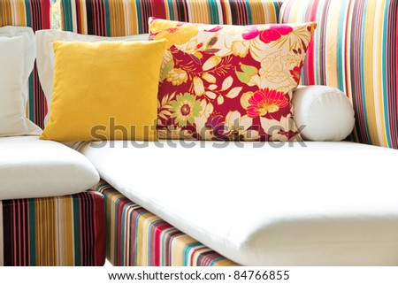furniture cushion - stock photo