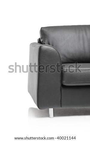 Furniture detail isolated against white background