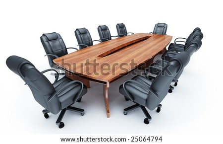 Furniture for a conference of halls - stock photo
