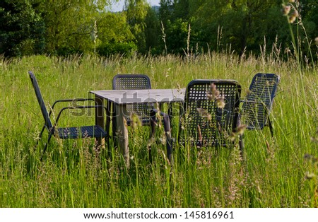 Furniture in nature - stock photo
