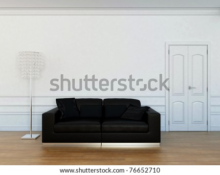 furniture in the living room - stock photo