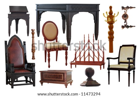 furniture isolated on white - stock photo