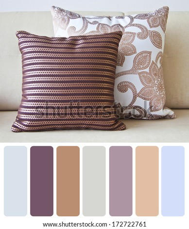 furniture pillow tone design - stock photo