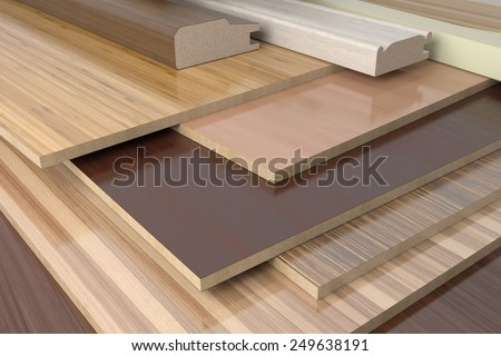 Furniture profiles with chipboards - stock photo