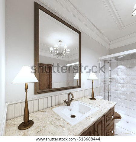 Furniture Sink Bath Wash Basin Marble Stock Illustration 513688444 ...