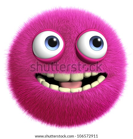 furry monster - stock photo