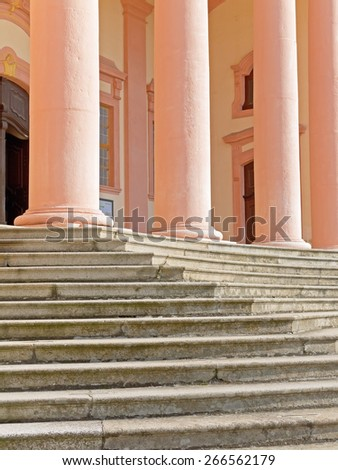 FURTH, AUSTRIA - 16 March 2015: Details of the church of the Benedictine monastery Goettweig, which is a famous landmark in Lower Austria and a UNESCO world heritage site. - stock photo