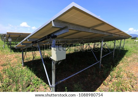 fuse box solar farm installed under stock photo image royalty rh shutterstock com Knob and Tube Wiring Electrical Panel