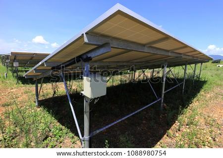 fuse box solar farm installed under stock photo image royalty rh shutterstock com Circuit Breaker Breaker Box