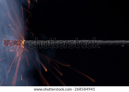 Fuse (explosives)  - stock photo