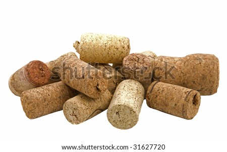 Fuses from wine on white background - stock photo