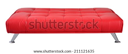 Futon. - stock photo
