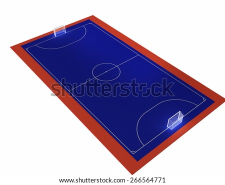 futsal court - stock photo