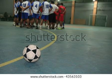 futsal game - stock photo