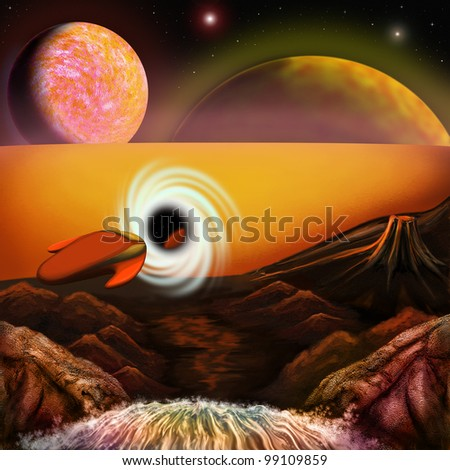 Future, bitmap - stock photo