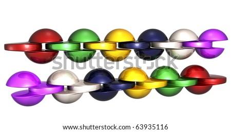 Future chain - stock photo