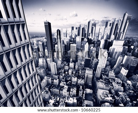 Future City - stock photo