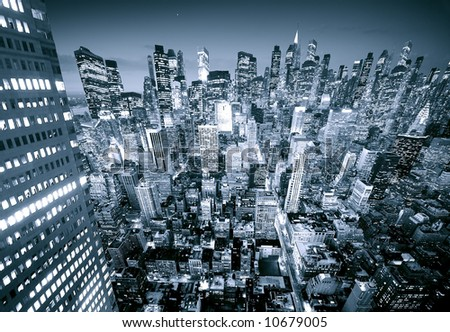 Future City - stock photo