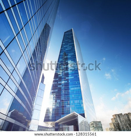 Future City - Paris la d�©fense - stock photo