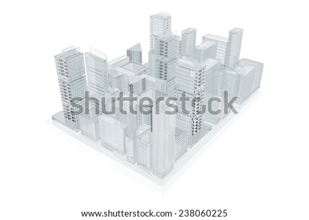 Future city.  Urban planning - stock photo